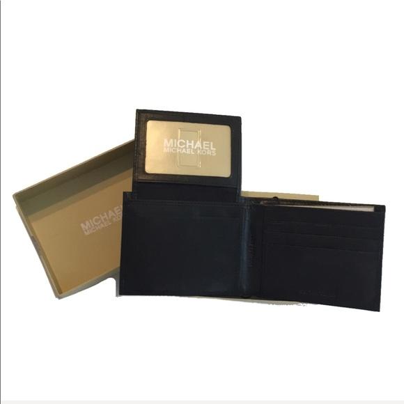 1654aad9b59689 Michael Kors Bags   Leather Bifold Mens Wallet Black   Poshmark